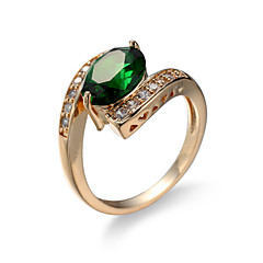 Dame Ring Smaragd Unikt design Mode Euro-Amerikansk Zirkonium Smaragd Legering Smykker Smykker Til Bryllup Speciel Lejlighed