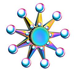 Fidget Spinners Przędzarka ręczna Zabawki Pierścień przędzarki Metal EDCStres i niepokój Relief Focus Toy Zwalnia ADD, ADHD, niepokój,