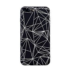 Voor iphone 7 plus 7 case cover patroon achterhoes hoesje geometrische patroon tegel lijnen / golven soft tpu voor iphone 6s plus 6s 6plus
