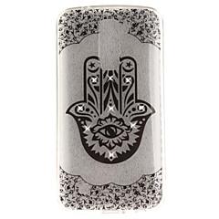 Til lg k10 k7 taske cover palme blomst mønster hd malet bor tpu materiale imd proces høj penetration telefon taske k8