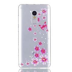 Til xiaomi redmi note 4 case cover butterfly mønster skinnende malet præget tpu blødt tilfælde