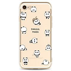 För Apple iPhone 7 7 plus 6s 6 plus väska täcka panda mönstret målade hög penetration tpu material mjukt fodral väska