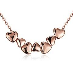 Damskie Naszyjniki choker Naszyjniki z wisiorkami Biżuteria Cyrkonia Heart Shape Geometric Shape Kryształ Miedź Pozłacane Pokryte różowym