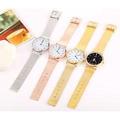 Dames Heren Modieus horloge Polshorloge Vrijetijdshorloge Chinees Kwarts Roestvrij staal Band Cool Vrijetijdsschoenen Zwart Zilver