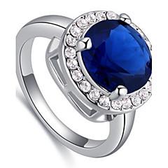Γυναικεία Ανδρικά Δαχτυλίδι απομιμήσεις SapphireΒασικό Κυκλικό Μοναδικό Στρας Γεωμετρικό Κύκλος Φιλία χαριτωμένο στυλ Euramerican