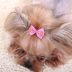Hår Tilbehør Hundetøj Sød Mode Afslappet/Hverdag Sløjfeknude Gul Rosa Rød Blå Lys pink