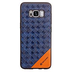 147 til Samsung Galaxy S8 Plus S7 Kanten Cover Cover Præget Case Etui Geometrisk Mønster Soft PU Læder til Samsung Galaxy S8 Plus S7 S6