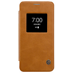 For LG  G6 Nillkin with Windows Auto Sleep/Wake Flip Case Full Body Case Solid Color Hard PU Leather for LG