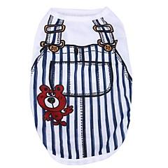 Kot Pies T-shirt Ubrania dla psów Codzienne Naszywka Dark Blue Niebieski Różowy Light Blue