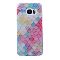 Til Samsung Galaxy S8 S8 plus case cove gitter mønster flash pulver imd proces tpu materiale telefon taske s7 s6 kant