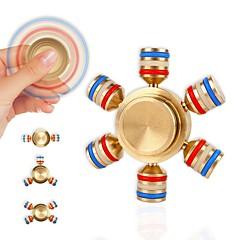 Stresszoldó pörgettyűk Kézi Spinner Búgócsiga Játékok Játékok Ring Spinner Fém EDC Újdonságok, geg játékok