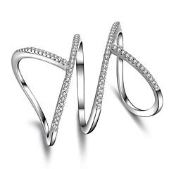 Duże pierścionki CyrkoniaUnikalny Geometryczny Styl Punk Rock euroamerykańskiej Wyrazista biżuteria minimalistyczny styl Chrismas
