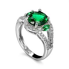 Men's Ring Emerald Unique Design Euramerican Fashion Zircon Emerald Alloy Jewelry Jewelry 147 Wedding Special Occasion Anniversary