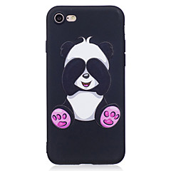 For Apple iPhone 7 7 Plus 6S 6 Plus 5S SE Case Cover Panda Pattern Painted Embossed Feel TPU Soft Case Phone Case