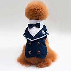 Γάτα Σκύλος Φανέλα Πουλόβερ Smoching Ρούχα για σκύλους Πάρτι Στολές Ηρώων Γάμος Συνδυασμός Χρωμάτων Μπλε