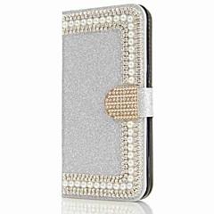 Til samsung galaxy s8 plus s8 cover kortholder tegnebog rhinestone taske glitter shine hård pu læder samsung galaxy s7 s7 kant s6 s6 kant