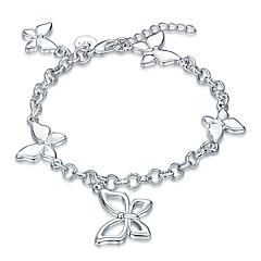 Damskie Dla dziewczynek Bransoletki i łańcuszki na rękę Kryształ Przyjaźń Modny Postarzane Styl Punk Rock Posrebrzany Bowknot Shape