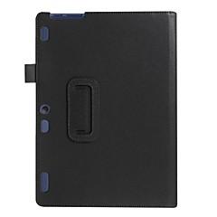 Para capa de caso com suporte flip caixa de corpo inteiro cor sólida couro suave para lenovo tab2 a10-70f / lca10-30f tb3-x70f