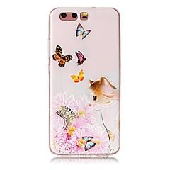 Til huawei p10 p10 plus præget sommerfugl katte mønster høj kvalitet tpu blød telefon taske p10 lite p9 p9 lite y5 ii mate 9 p8 lite 2017