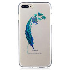 Til apple iphone 7 7 plus 6s 6 plus se 5s 5 fjer mønster malet høj penetration tpu materiale imd proces blødt tilfælde telefon tilfælde