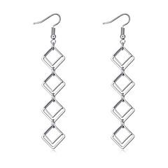 Dame Dråbeøreringe minimalistisk stil Mode Euro-Amerikansk Cooper Geometrisk form Smykker For Fest Fødselsdag 1 Par