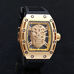Skull Watch Watch Men Luxury Brand  Men Richard Style Quartz Silicone Wristwatches Skeleton Skeleton Watch Relogio Masculino
