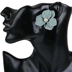 Naisten Niittikorvakorut Korvarenkaat Korvakorut Muoti Bohemia Style Käsintehty Kukka Muovit Tekohelmi Hartsi Flower Shape Korut