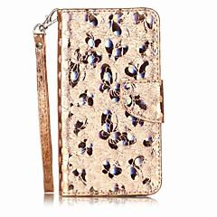 Case voor xiaomi redmi note 4 note 3 case cover kaarthouder flip patroon full body case vlinder glitter glans hard pu leer