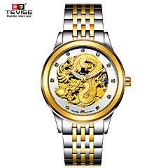 Heren Sporthorloge Skeleton horloge Modieus horloge mechanische horloges Chinees Automatisch opwindmechanismeWaterbestendig Lichtgevend s