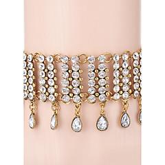 Női Rövid nyakláncok Nyaklánc medálok Strands nyakláncok Strassz Strassz ÖtvözetEgyedi Strassz Barátság AEÁ Brit karácsonyi Klasszikus