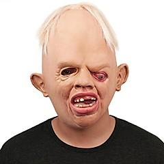 Korkealaatuinen kauhea hirviö aikuinen latex naamarit täynnä kasvot hengittävä halloween naamioitu maski fancy mekko puolue cosplay puku