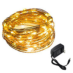 HKV® 1PCS 5M 50LED US Plug EU Plug UK Plug Outdoor Christmas Fairy Lights Cool White Warm White Copper Wire LED String Light Decoration AC 100-240V
