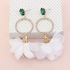 Dames Druppel oorbellen Kubieke ZirkoniaBasisontwerp Uniek ontwerp Bloemenstijl Hangende stijl Vriendschap Hypoallergeen Multi-ways Wear