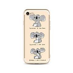 Case for iphone 7 plus 7 kattaa läpinäkyvä kuvio takakannen tapauksessa sarjakuva koala soft tpu apple iphone 6s plus 6 plus 6s 6 se 5s 5c
