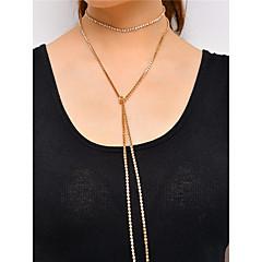 Mujer Gargantillas Collar Cristal Brillante Cobre Moda Personalizado Las formas múltiples de desgaste Euramerican Estilo Simple Joyas Para