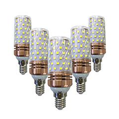 5PCS E14/E27 15W LED Corn Lights 60 SMD 2835 700-800 lm Warm White /White  220V