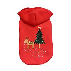 Kutya Kapucnis felsőrész Kutyaruházat Karácsony Rénszarvas Piros
