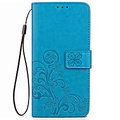 Przypadku xiaomi redmi 4x pokrowiec obudowa portmonetka portfel z podstawą flip tłoczone pełny korpus przypadku solidny kolor kwiat twardy