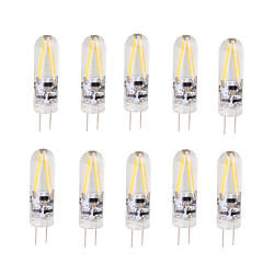 shenmeile 2W LED Filament Bulb G4 Bi-pin Lights T 2 COB 200 lm Warm White Cool White AC/DC 12 V 10 pcs