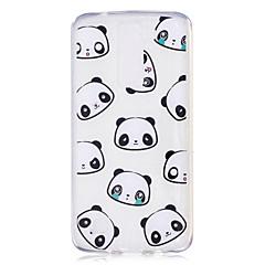 Taske til lg h502 x power case cover panda mønster malet høj penetration tpu materiale imd proces blødtui telefon etui k8
