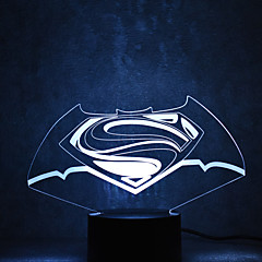 Christmas Superman Touch Dimming 3D LED Night Light 7Colorful Decoration Atmosphere Lamp Novelty Lighting Christmas Light