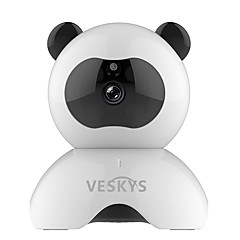 Veskys® 960p intelligens panda wifi ip biztonsági megfigyelő kamera (1.3mp hd / 2017 aranyos panda modell)