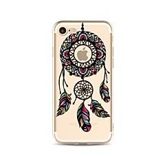 Case for iphone 7 plus 7 kattaa läpinäkyvä kuvio takakannen tapaus unelma catcher pehmeä tpu apple iphone 6s plus 6 plus 6s 6 se 5s 5c 5