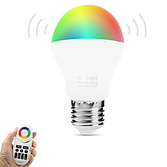 E27 6W 2.4Ghz RGBWarm White Stepless Dimming Wireless Remote Control Dimming Mobile Phone  Wifi Control Dimming Intelligent Bulb (AC85-265V)