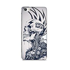 Voor xiaomi mi 5 case cover patroon achterkant hoesje cartoon schedel zachte silicone