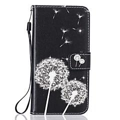 Pokrowiec do telefonu iphone 7 7 plus uchwyt na klapę portmonetka portmonetka z podstawką odwróć deseń korpus pełen walizka dandelion