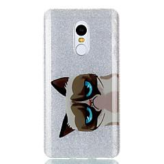 Käyttötarkoitus kotelot kuoret IMD Takakuori Etui Kissa Eläin Kimmeltävä Kova TPU varten XiaomiXiaomi Redmi Note 4X Xiaomi Redmi 4a