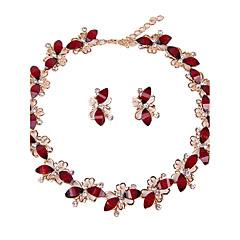 Damskie Zestawy biżuterii Bridal Jewelry Sets Rhinestone Modny euroamerykańskiej minimalistyczny styl Klasyczny Żywica Taper Shape NaŚlub