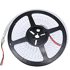 36W Fleksible LED-lysstriber 3400-3500 lm Jævnstrøm12 V 5 m 1200 leds Varm Hvid Hvid