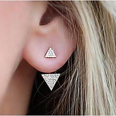 Női Beszúrós fülbevalók Strassz Divat Ötvözet Triangle Shape Ékszerek Kompatibilitás Napi
